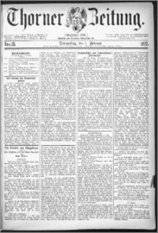 Thorner Zeitung 1877, Nro. 26