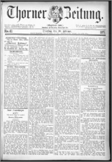 Thorner Zeitung 1877, Nro. 42