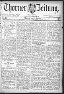Thorner Zeitung 1877, Nro. 49