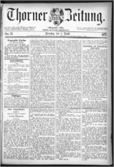 Thorner Zeitung 1877, Nro. 76 + Beilage
