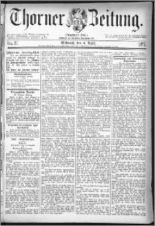 Thorner Zeitung 1877, Nro. 77