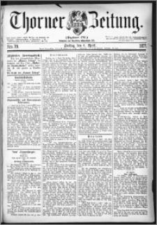Thorner Zeitung 1877, Nro. 79