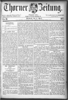 Thorner Zeitung 1877, Nro. 83