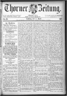 Thorner Zeitung 1877, Nro. 87 + Beilage