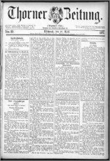 Thorner Zeitung 1877, Nro. 89