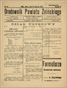 Orędownik Powiatu Żnińskiego 1937 Nr 31