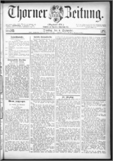Thorner Zeitung 1877, Nro. 205
