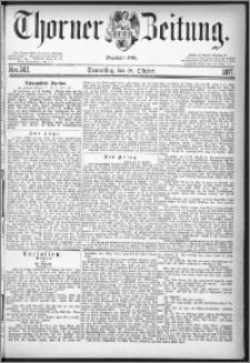 Thorner Zeitung 1877, Nro. 243