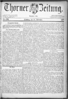 Thorner Zeitung 1877, Nro. 270 + Beilage