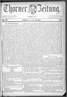 Thorner Zeitung 1877, Nro. 272