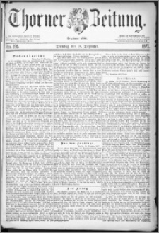 Thorner Zeitung 1877, Nro. 295 + Beilage
