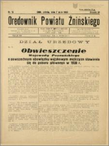 Orędownik Powiatu Żnińskiego 1938 Nr 12