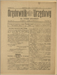 Orędownik Urzędowy na Powiat Strzeliński 1929 Nr 4