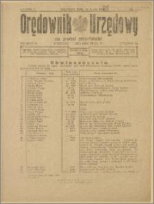 Orędownik Urzędowy na Powiat Strzeliński 1929 Nr 30