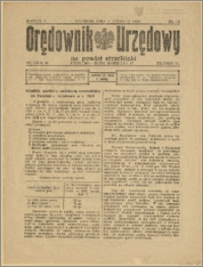 Orędownik Urzędowy na Powiat Strzeliński 1929 Nr 34