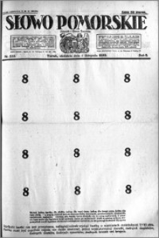 Słowo Pomorskie 1922.11.05 R.2 nr 255