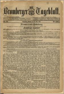 Bromberger Tageblatt. J. 12, 1888, Nr 73