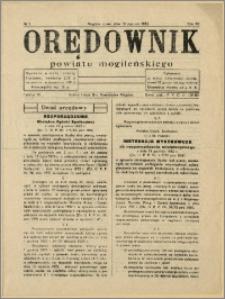 Orędownik Powiatu Mogileńskiego, 1933, Nr 5