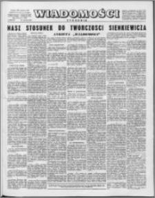 Wiadomości, R. 16 nr 5 (774), 1961